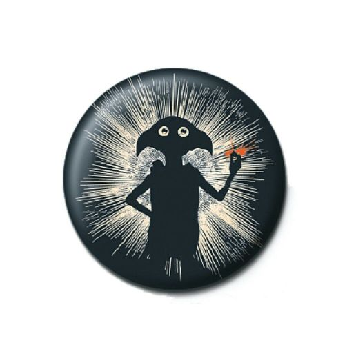 Harry Potter Dobby Elf Silhouette Button Badge